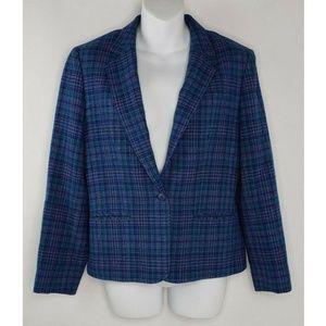 Vintage Pendleton Jacket Purple Blue Green Blazer